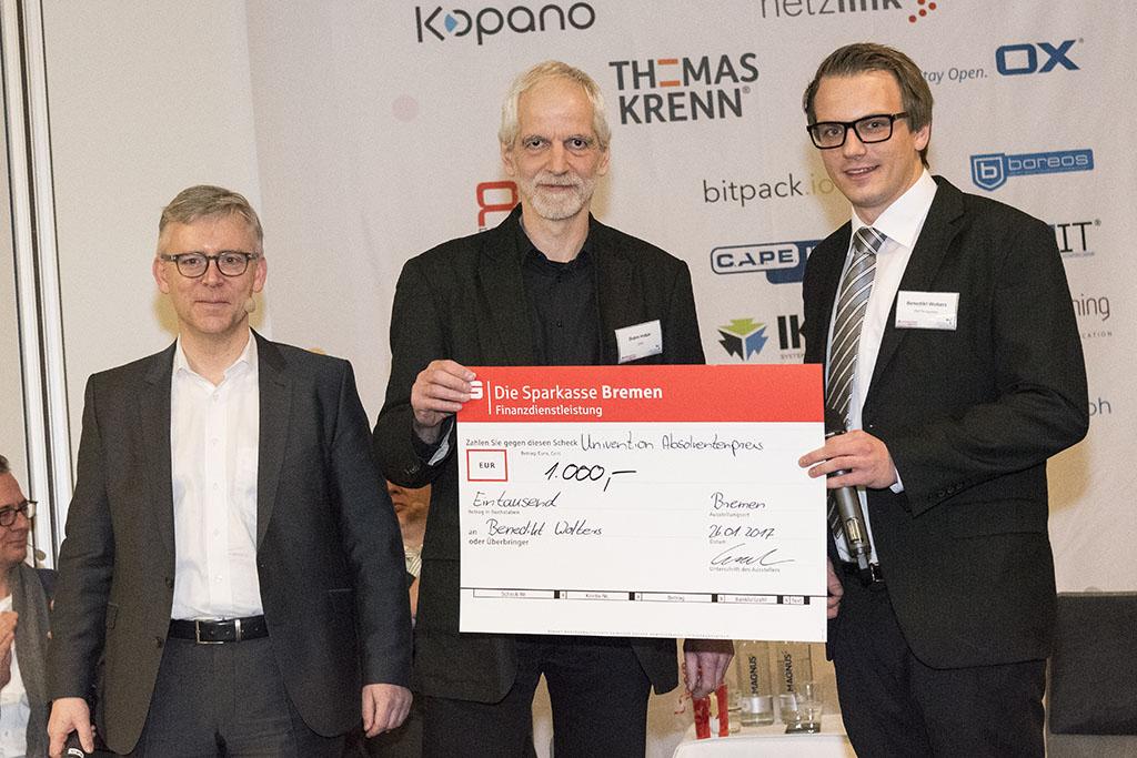 Benedikt Christoph Wolters - Zweitplatzierter Univention Absolventenpreis