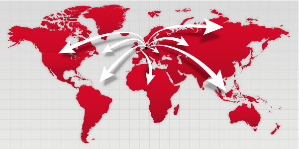 Univention partner map worldwide