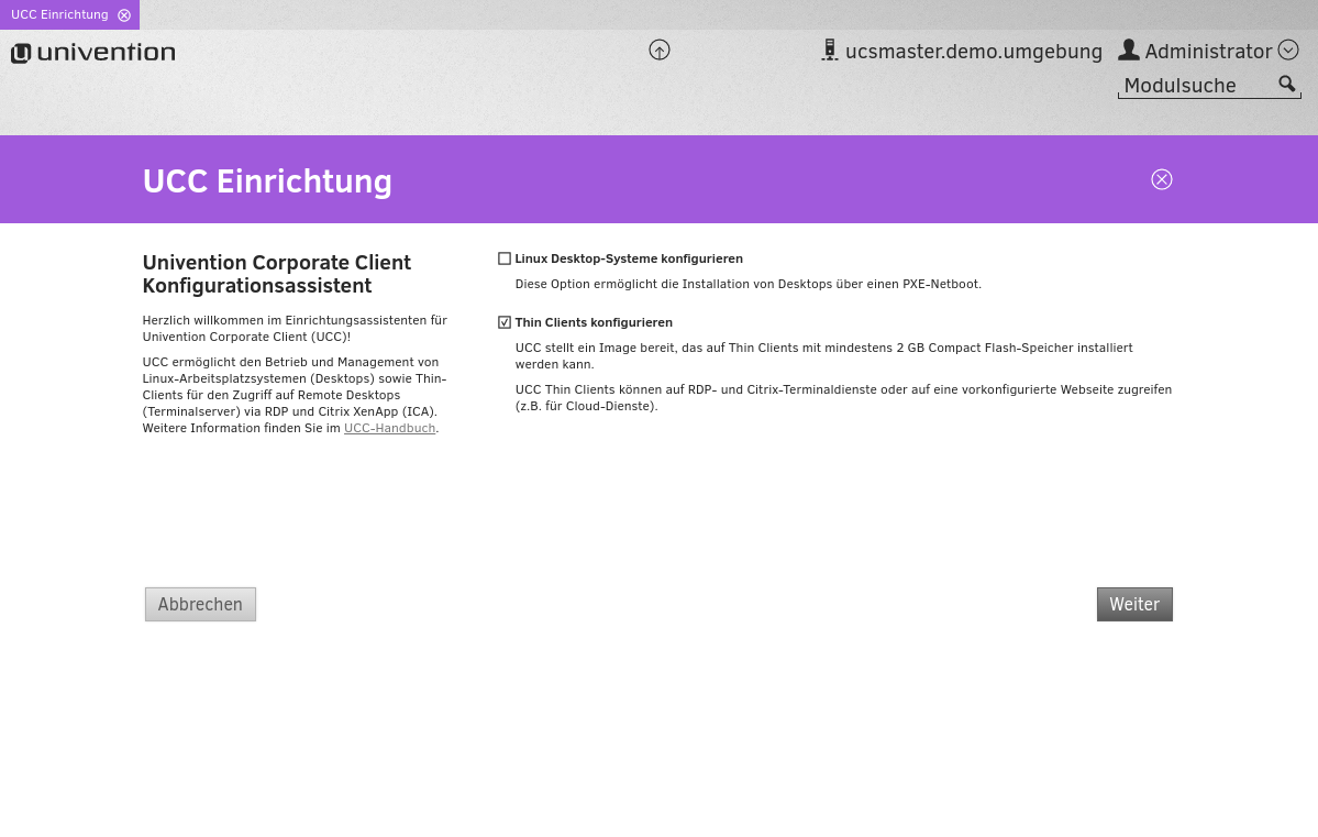 Univention_Corporate_Client_Einrichtungsassistent