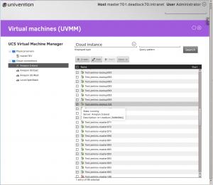Univention Virtual Machine Manager managing Amazon EC2 Images