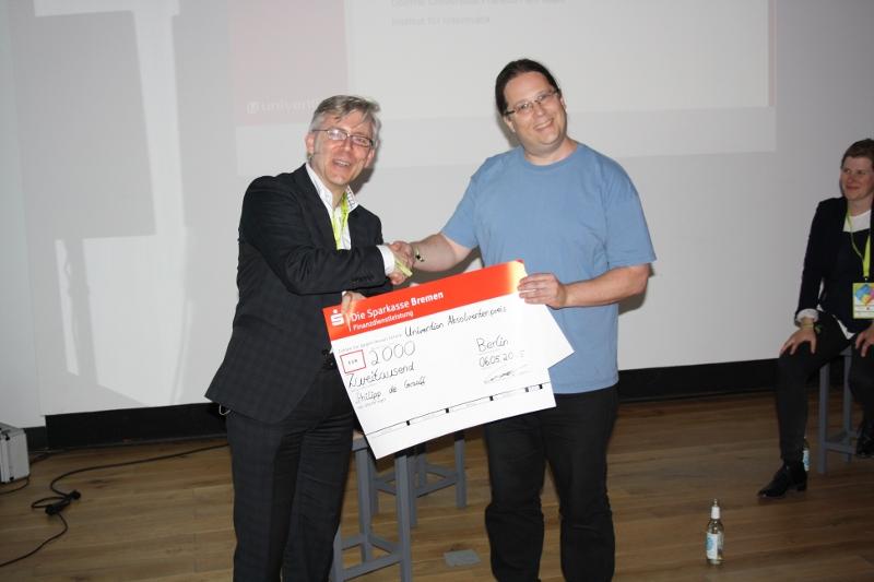 1 platz Absolventenpreis 2015 Peter Ganten, Philipp de Graaff