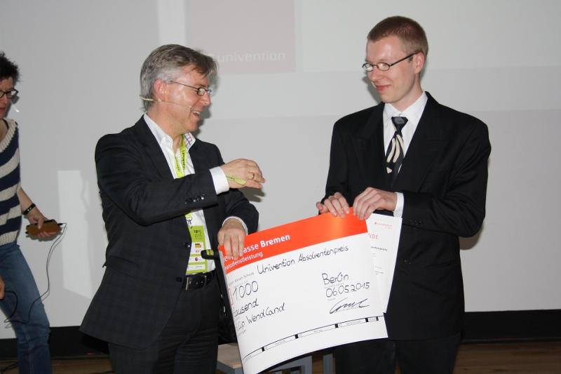 2 platz Absolventenpreis 2015 Peter Ganten Philip Wendland