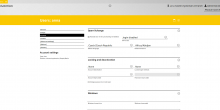 User settings in Univention Management Console