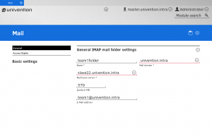 General IMAP mail folder settings in UCS with Dovecot