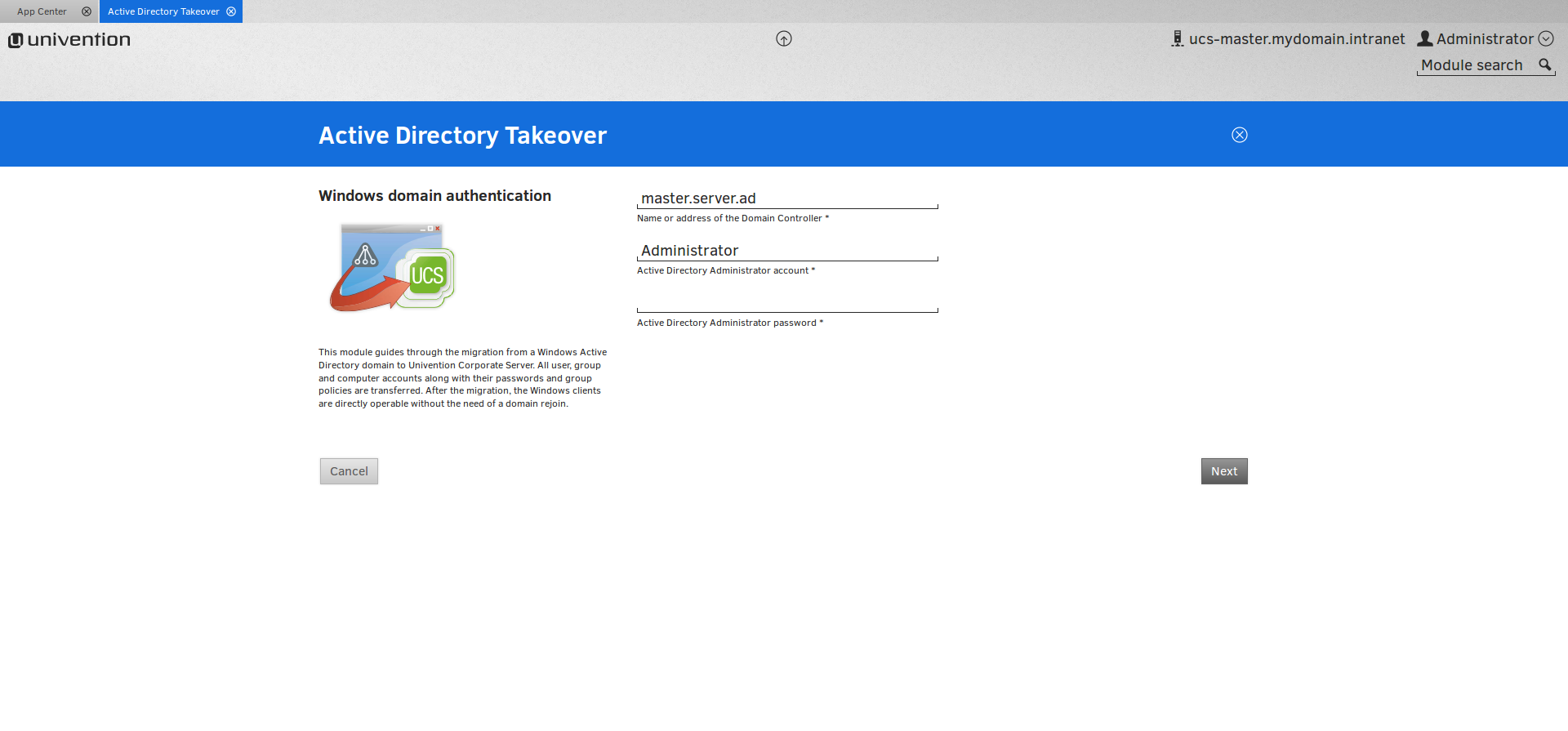 MIgration of a Windows AD Domain to a UCS Samba Domain