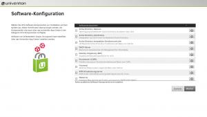 Software-Konfiguration in der UCS Installation