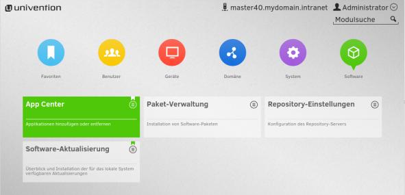 UMC System Modul App Center