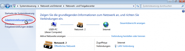 Windows Adapter Einstellungen 1