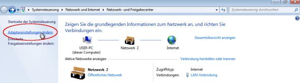 Windows Adapter Einstellungen 1