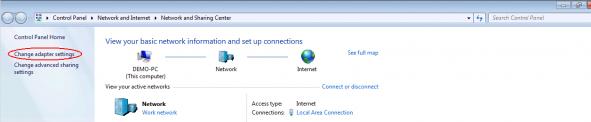 Windows adapter settings 1