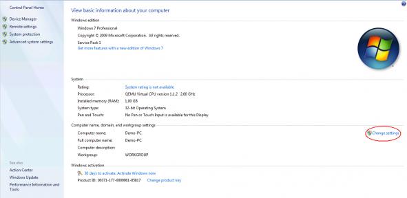 Windows system settings 1