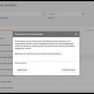 Screenshot UCS@school 4.2 Passwörter zurücksetzen