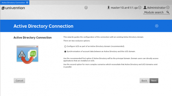 Univention Actice Directory Connection