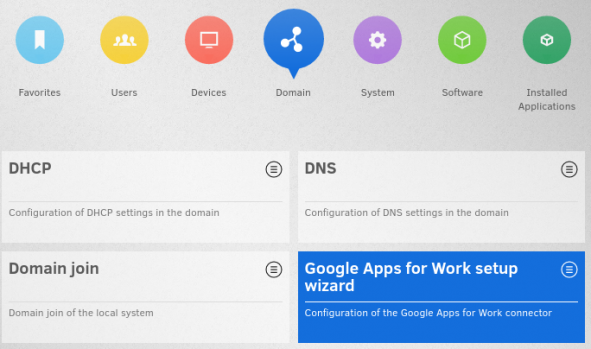 Screenshot UMC overview with Google Apps for Work