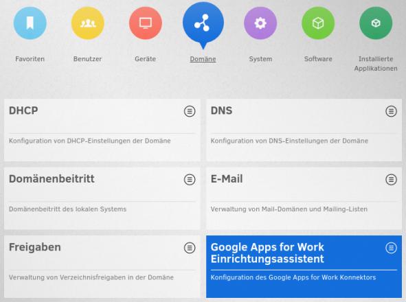 Übersicht UMC Screenshot google apps for work
