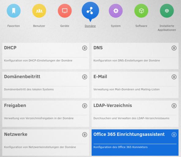 Screenshot UMC Übersicht Office 365
