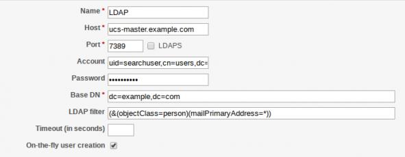 Screenshot LDAP Authentication