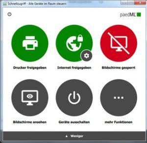 Screenshot Schulkonsole paedML Grundschule