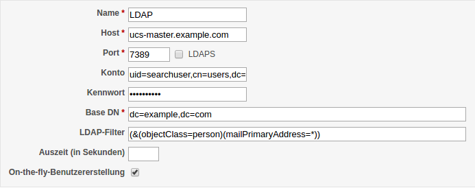 Screenshot Redmine LDAP