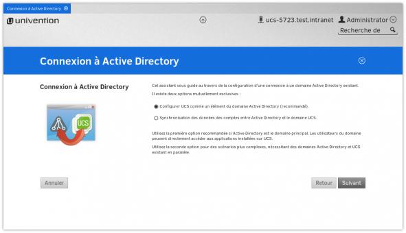 Screenshot UCS Active Directory französisch
