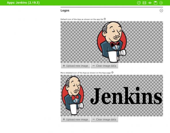 App Center Provider Portal. Screenshot Jenkins Logo