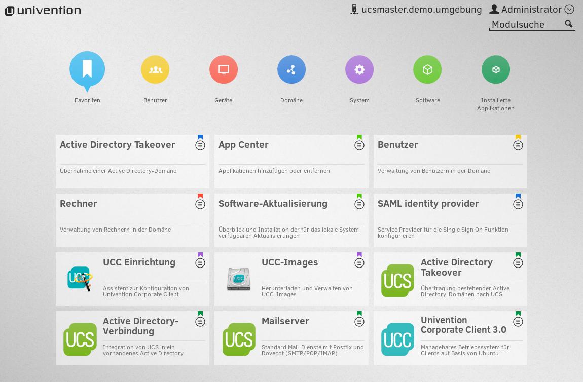 univention management console mit ucc