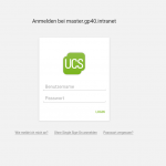 Screenshot SSO Login mit UCS 4.2