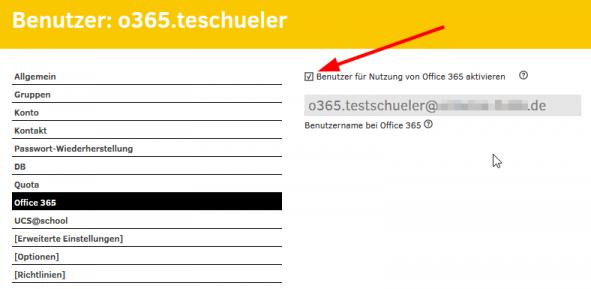 Screenshot Lizenaktivierung für Office 365 eines Schülers