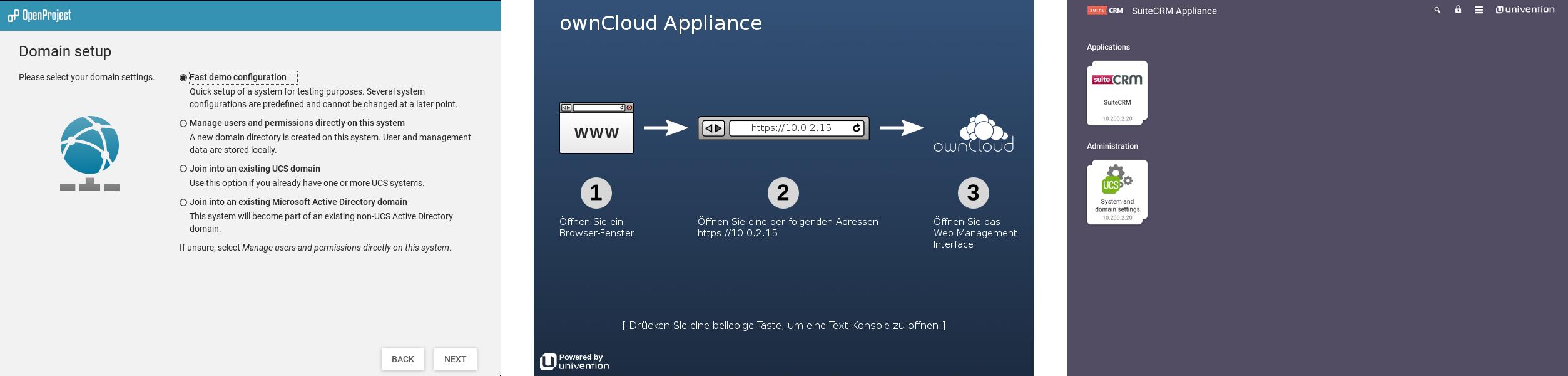 Ready to use: Nextcloud, ownCloud, Kopano App Appliances Univention