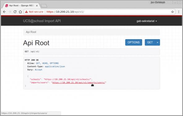 Direktzugriff auf die REST-API
