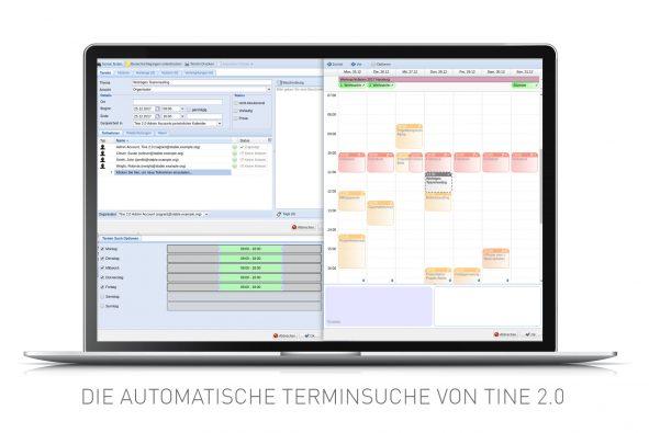 Screenshot der Funktion Automatische Terminsuche in Tine 2.0 Caroline