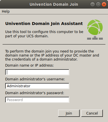 Screenshot of Univention Domain Join Assistant