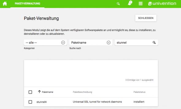 Screenshot UCS Paketverwaltung