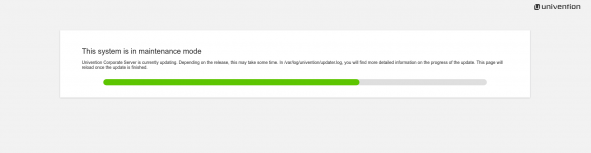 Screenshot UCS Maintenance Modus