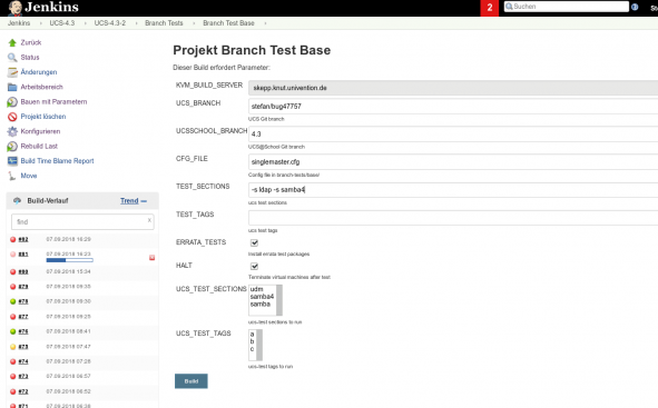 Developer Days: jenkins-branch-tests