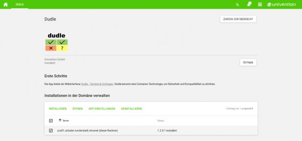 Screenshot Dudle App für UCS einrichten