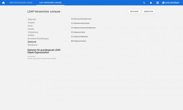 Screenshot UCS Administrator hinzufügen