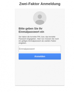 ScreenshotZwei-Faktor-Authentifizierung privacyIDEA