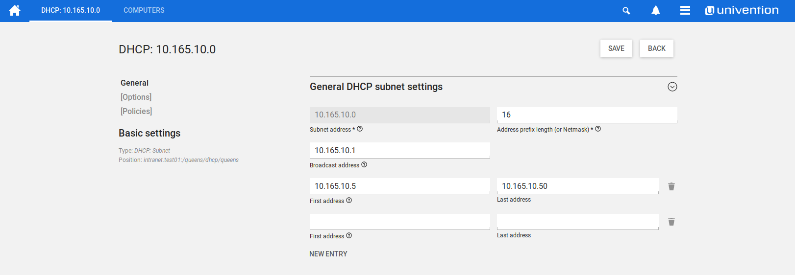 Brief Introduction: DHCP and DNS Univention