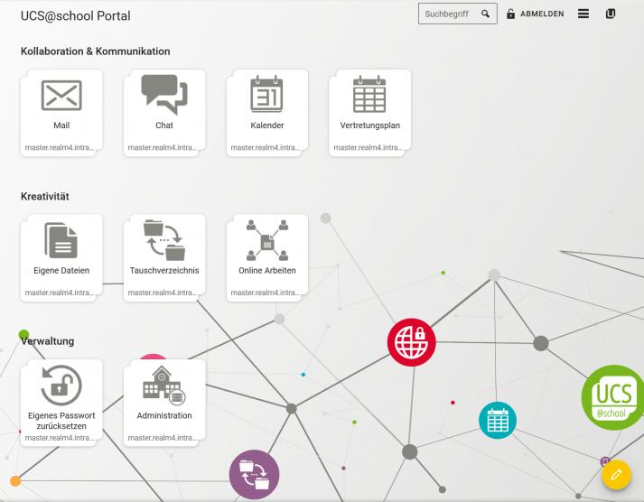 Screenshot: UCS@school-Portal