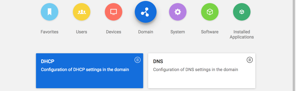 View of the installation option for DHCP or DNS in the Univention App Center