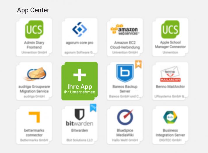Univention App Center: Ihre App im App Center