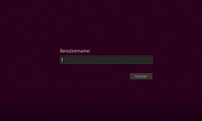 Login-Bildschirm: Gnome angepasst