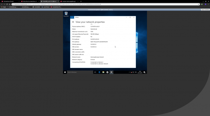 Screenshot: AD Connector Domain Settings