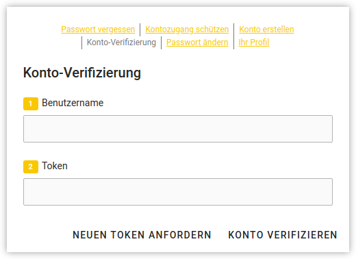 Screenshot: UCS users self service verification