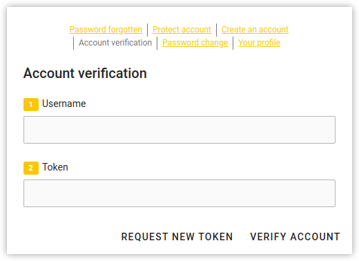 Screenshot of users self service verification in UCS