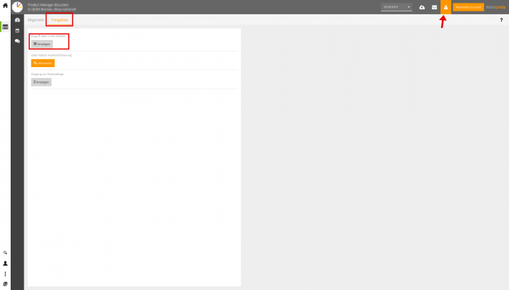 Interface: Webuntis Mobile Freigabe