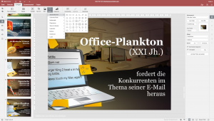 User interface of the presentation module in ONLYOFFICE