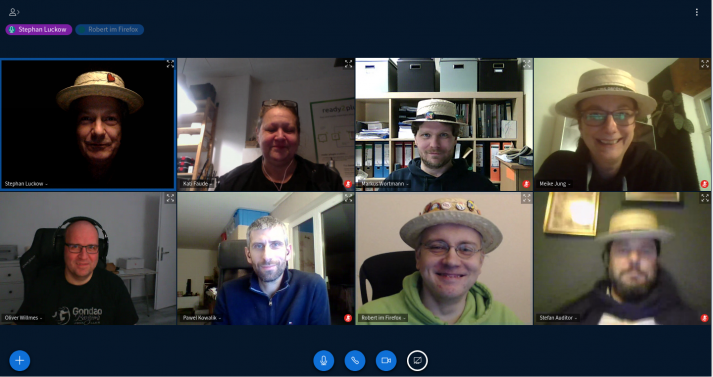 Screenshot of CMS-Gardeners -during a video conference