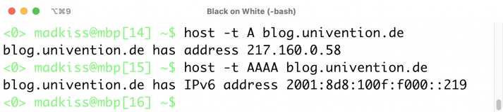 IP-Adresse des Univention-Blogs